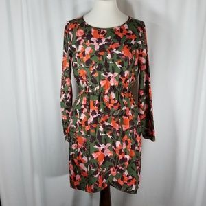 NWT J. CREW Longsleeved Floral Dress Size 6